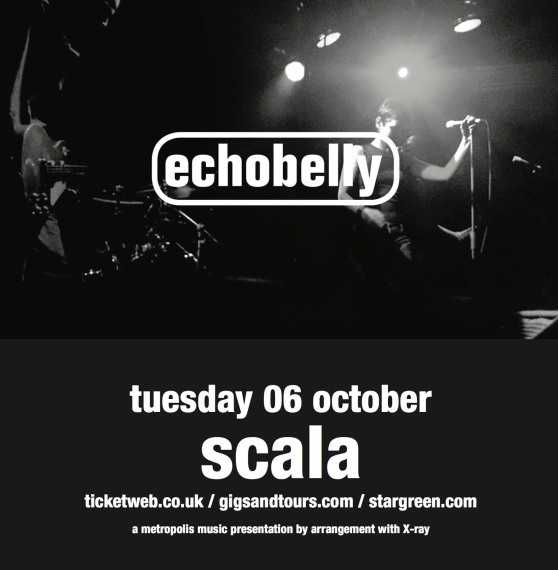 Book tickets for echobelly at the Scala - Tuesday 6 October 2015